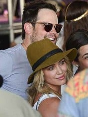 Hilary Duff and Mike Comrie