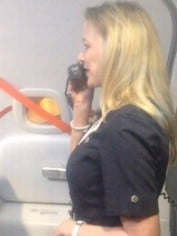 funny flight attendant