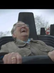 grandma on a roller coaster