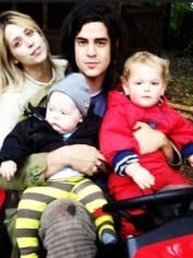 Peaches Geldof, her husband Thomas Cohen and their children Astala, 2, and Phaedra, 18 months.