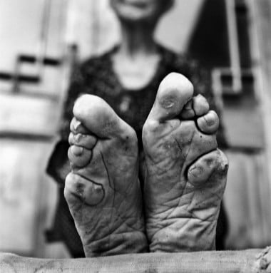 Traditionally, women had their feet bound as a sign that they would be a good wife.