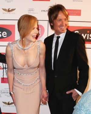 Nicole Kidman Keith Urban sing together