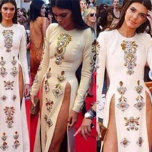 Kendall Jenner split dress