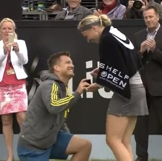 tennis player proposed to