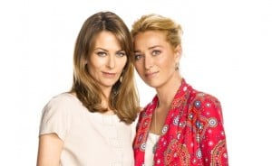 Kat Stewart and Asher Keddie