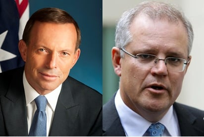 Both Tony Abbott and Scott Morrison are refusing to answer questions