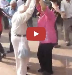 dancing grandpa video