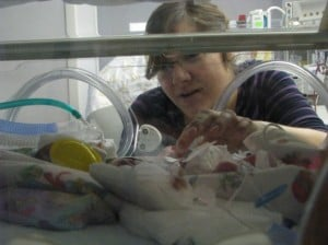 having a preemie baby