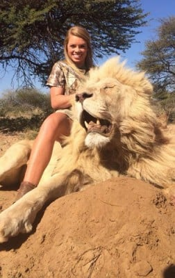 kendall jones with lion