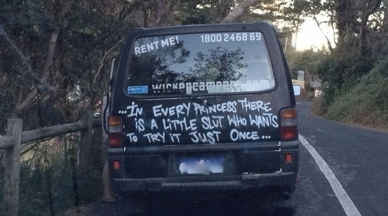 Does this campervan promote rape culture?