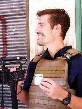Paper's decided to publish pictures of James Foley just minutes before his death.