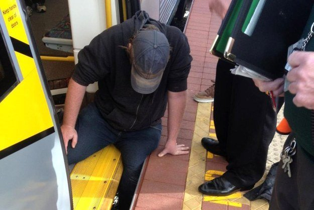 Perth man slipped off train