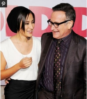 Zelda Williams and her dad Robin.