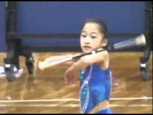 Video thumbnail for youtube video The best baton twirler we have ever seen. - Mamamia