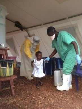 Isatta is a 22 month old girl who has survived Ebola in Kailahun.