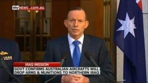 The Prime Minister during yesterday's announcement.
