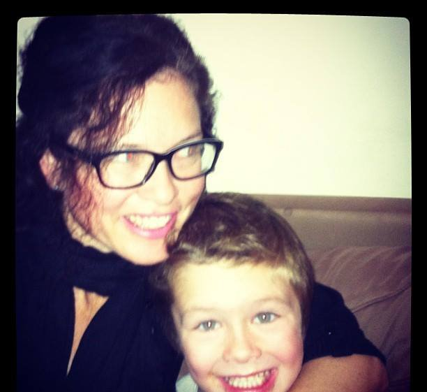 Bern with her son Jack.