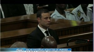 Oscar Pistorius wept as he was found not guilty of murder.