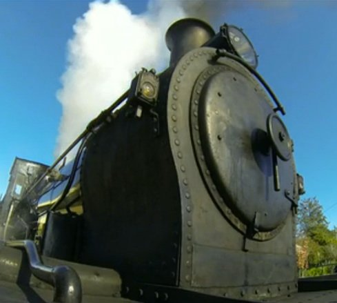 What a *slow blink* beautiful steam train.