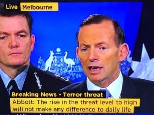Tony Abbott announcing the move today. (Screenshot via ABC news)