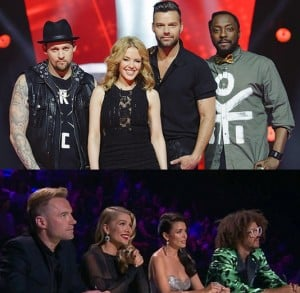 The Voice and X Factor judges.