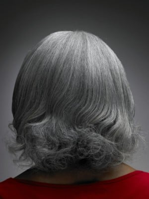 what age does women's hair go grey