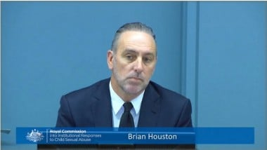 Brian Houston before the inquiry