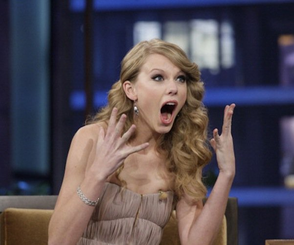 taylor swift excited