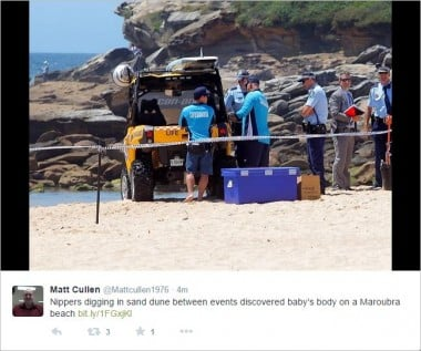 dead baby found on maroubra beach