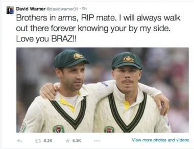 Dave Warner's tribute to his mate.