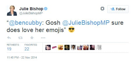Julie Bishop emoji 1