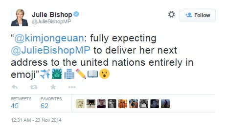 Julie Bishop emoji 2