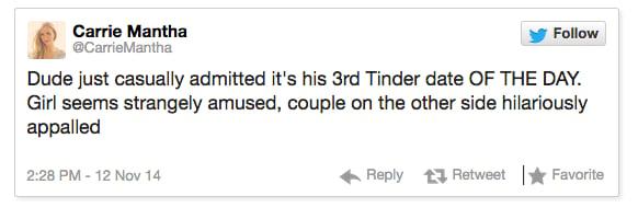 live tweeted tinder date