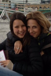 Jackie with her 15-year-old daughter Gabi.