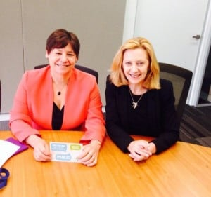Megan Mitchell with Lyn Coulson Barr, VIC MH Complaints Commissioner