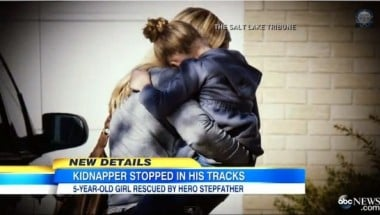 Stephanie Edson reunited with her daughter.