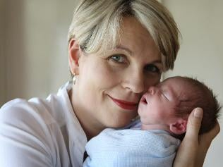 Tanya Plibersek and her little one. (Photo: supplied)