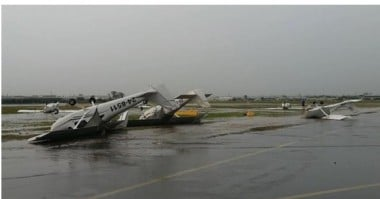 Planes flipped a