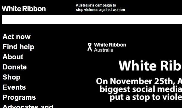 The White Ribbon Australia website.