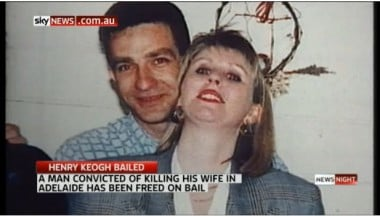 Henry Keogh with the woman he is accused of drowning.