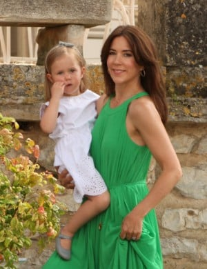 Crown Princess Mary of Denmark, and daughter Princess Isabella.