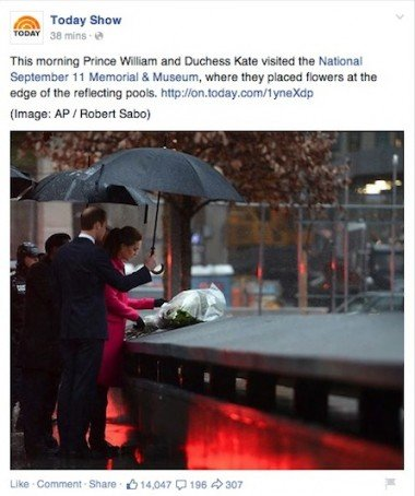 The Royals at the 9/11 memorial.