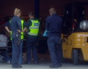 baby hit by a forklift