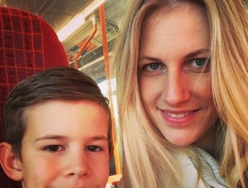 laura and her son