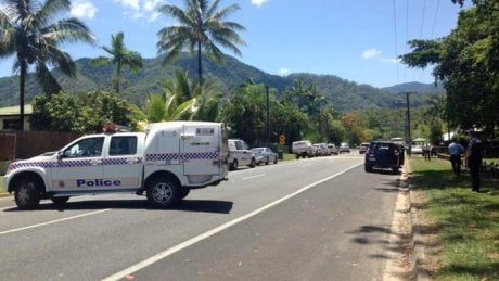 Emergency crews were called to an address in Murray Street in the Cairns suburb of Manoora. (ABC News: Sharnie Kim)
