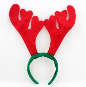 Concerns over reindeer ears.