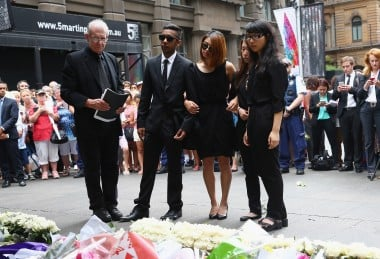 Siege Victims Visit Martin Place Following Removal Of Floral Tribute