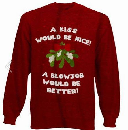 sexist christmas sweaters