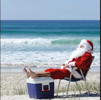 Santa is heading straight to Perth.