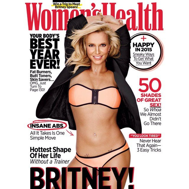 women's health britney spears cover